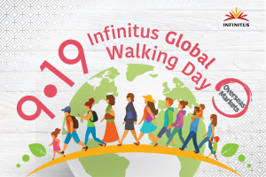 9‧19 Infinitus Global Walking Day - Infinitus Achieved 920 Million Steps and Donate Goods Worth RMB 2.8 Million to Support Teen Development in China